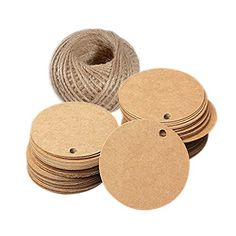 Brown Gift Tags, Kraft Paper Gift Tag with 100 Feet Jute Twine, Round Shaped Blank Hang Tags for Craft Projects, Xmas Gifts (Brown Circle Tags) Holiday Gift Tags, Xmas Gifts, Craft Gifts, Paper Tags, Paper Gifts, Types Of Pencils, Wedding Favor Tags, Jute Twine, Tampons