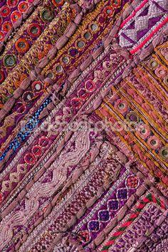 Раджастхани индийских пэчворк стены тканью — Стоковое изображение #30285239