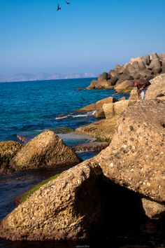 Fisherman :-)  #Crete #Heraklion #Fishernam #Fishing #Landscapes