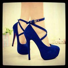 Pretty dark blue heels