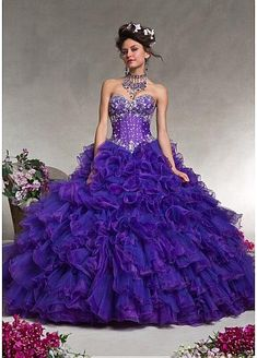 Gorgeous Satin & Organza Sweetheart Neckline Floor-length Ball Gown Prom Dress