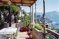 A perfect place for a honeymoon. Above Amalfi with an ever changing view.