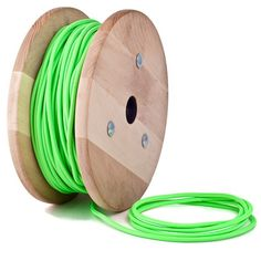 Green neon textile cable by Cablelovers