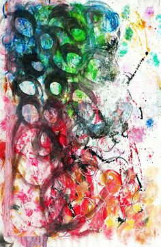 """#Abstract #painting """"it's a mess""""  #marinadewit"""