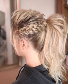 47 Fashion Braids-Frisuren, die Sie lieben werden – Peinados – Hairstyles, You can collect images you discovered organize them, add your own ideas to your collections and share with other people. Braided Ponytail Hairstyles, Easy Hairstyles For Medium Hair, Ponytail Styles, Down Hairstyles, Medium Hair Styles, Short Hair Styles, Fashion Hairstyles, Hairstyles Pictures, Pinterest Hair
