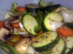 """marinated raw veggie salad! """"nice summer dish. good for when its too hot to cook!""""  @allthecooks #recipe #salad #vegetables #cold #healthy #easy"""