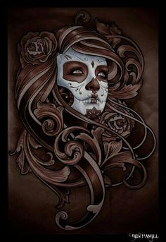 Image result for day of the dead tattoo