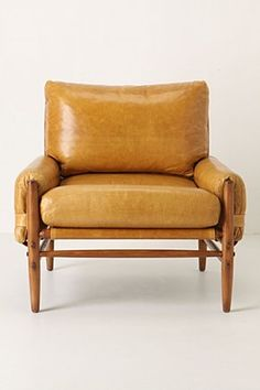 I love the color and style of this chair--not so obviously mid century
