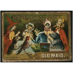 Antiques, Oddities and Vintage / Mother Goose Party or the Merry Game of Old Maid 1887 McLoughlin Bros.
