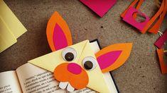 Velikonoční zajíc jako záložka do knihy: Papírová skládačka | Prima Nápady Diy Paper, Plastic Cutting Board, Transport, Sharpies, Books