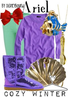 "Disney Princess ""Ariel - The Little Mermaid""-inspired Cozy Winter outfit. 