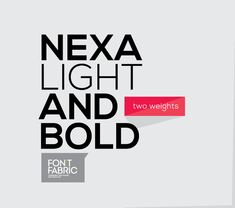 Fontfabric type foundry presents Nexa free font!Two styles (Light & Bold) available for direct free download only from fontfabric.comEnjoy!