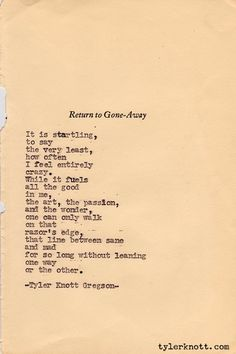 poetry quotes about life and love |  'here's to the crazy ones' | The Improvised Life