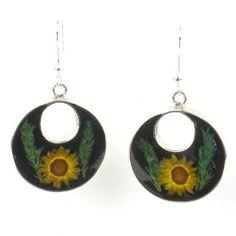 Nahua Flower Drop Earrings - Stunning! #FreeShipping #FairTrade #earrings #jewelry