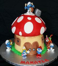 Smurf House Cake | Flickr - Photo Sharing!