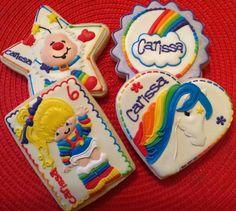 Rainbow Brite Birthday Cookies