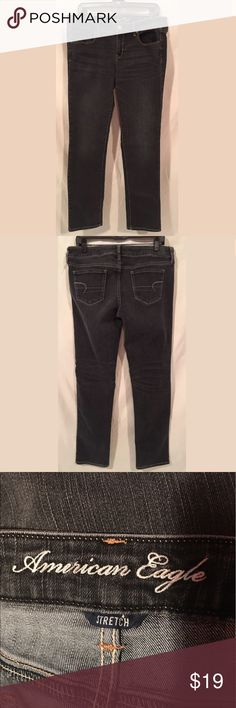 American Eagle Outfitters Skinny Jeans Size 14 American Eagle Outfitters Off-Black Skinny Jeans Size 14 American Eagle Outfitters Jeans Skinny