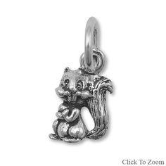 Sterling Silver Chipmunk Charm by jewelrymandave on Etsy