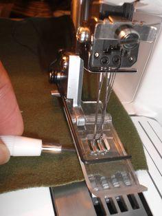 Brother 2340 CV cover stitch machine. allen wrench under presser foot