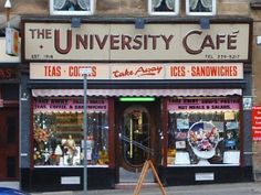 University Cafe, Byres Road, Glasgow - I like the doors Scotland Uk, Glasgow Scotland, Scotland Travel, Edinburgh, Paisley Scotland, Gorbals Glasgow, Glasgow Architecture, Vegas, Glasgow City