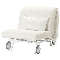 IKEA - IKEA PS LÖVÅS, Fotelja na razvlačenje, Gräsbo bij, , Zahvaljujući kotačima, sofa se lako pomiče radi čišćenja i razmještaja namještaja.Možete koristiti dodatne navlake kako biste vašoj sofi i sobi dali novi izgled.Ova se sofa brzo i lako pretvara u prostrani krevet tako da se izrola sjedište i istovremeno preklopi naslon za leđa prema dolje.Jednostavan i tvrd madrac od pjene koji ćete moći dugo koristiti.