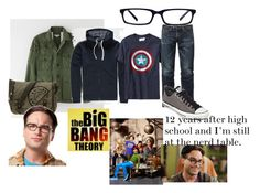 """""""Leonard Hofstadter"""" by ceceg ❤ liked on Polyvore featuring Engineered Garments, Standard Supply, Old Navy, MasterCraft Union, GlassesUSA, Converse, Ghibli and Theory"""