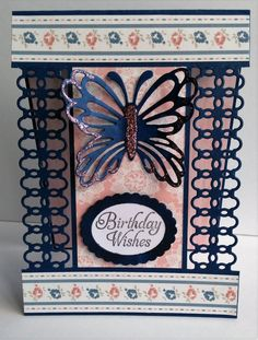 Bold and beautiful card using the new Simply Creative pad- Shabby Chic by Louise
