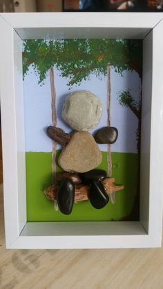 steinbild stone schaukel Frame, Home Decor, Packaging, Stones, Deko, Picture Frame, Decoration Home, Room Decor, Frames
