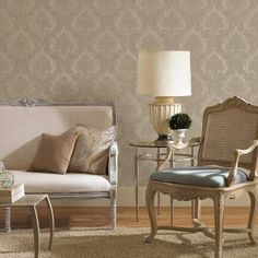 Mirage Monalisa Damask Fabric Wallpaper - 987-56550