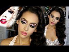 Burlesque (PIN UP) Halloween MAKEUP & HAIR Tutorial ! - YouTube