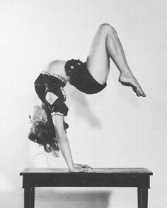 Bonnie Nebelong born in the late 1920's. She was a regular performer on early talent/variety TV shows, and was known for her routines - ballet type dances with contortion and tumbling.