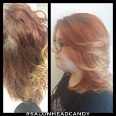 Great color melting correction by Tronisha into this soft copper to light blonde color melt!! #salonheadcandy #makeover #motivation #nofilter #nofilter #bumbleandbumble #beforeandafter #beautiful #btcpics #cherryhillnj #lpweeklydo #haircolor #colormelting #follow #salonlife #southjersey #prettyhair #ombre #talent #wellahair