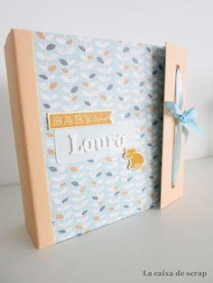 LA CAIXA DE SCRAP: Mini álbum bebé LAURA Mini Albums Scrap, Mini Scrapbook Albums, Photo Album Scrapbooking, Book Making, Bookbinding, Baby Cards, Decoupage, Baby Shower, Paper
