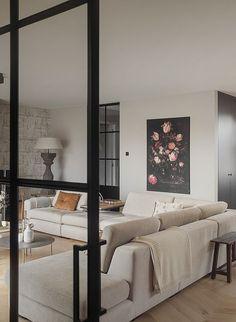 Living Room Sofa Design, Living Room Bedroom, Living Room Interior, Minimalist House Design, Minimalist Home, My Home Design, Cool Apartments, Living Room Remodel, Home And Living