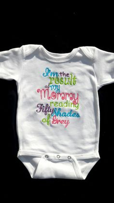 Fifty Shades of Grey Inspired onesie. Lol
