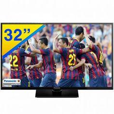 """TV LED 32"""" Panasonic HDTV com Tela Widescreen, Media Player, Conexões HDMI e USB - TC-32A400B"""