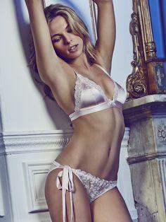 Lucile Lingerie - 'Shortness Of Time' Silk Boudoir Bra and Luxury Long Tie Side Knicker