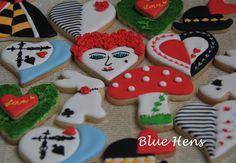 Alice in Wonderland Valentine's Day Cookies