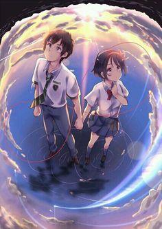 #wattpad #romance Aqui encontraras imágenes súper cheveres de la película si.....como lo vez en el titulo....la pelicula mas taquillera en japon....kimi no na wa.