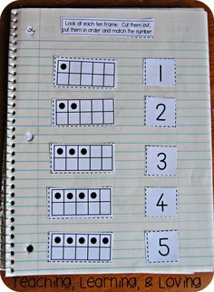 Teaching, Learning, & Loving: Interactive Math Journals for Pre-K Interactive Writing Notebook, Interactive Journals, Kindergarten Journals, Pre Kindergarten, Math Classroom, Preschool Math, Fun Math, Math Work, Maths