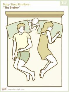 Les 9 positions favorites de bébé pour nous empêcher de dormir !