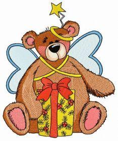 Teddy bear fairy 7 machine embroidery design. Machine embroidery design. www.embroideres.com
