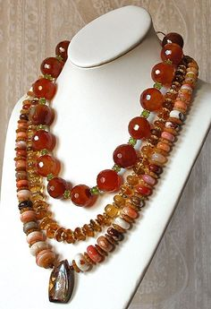 Outstanding 3 Strand Hand Made Necklace by michaelcolbergdesign, $700.00