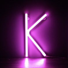 Neon Pink Light Up Letter - K