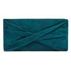 SUEDE CLUTCH ($210) ❤ liked on Polyvore featuring bags, handbags, clutches, suede purse, suede clutches, suede handbags, blue clutches and blue purse