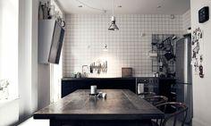 Basic and clever Stockholm home | Scandinavian Deko.