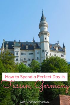 A travel guide to Fussen, Germany. Perfect for a day trip; only a 2 hour train ride from Munich. Explore the world famous Neuschwanstein castle, stroll through medieval villages, and more. Read these tips before booking your trip.  A MUST see! | Europe Travel Destinations | Germany Travel