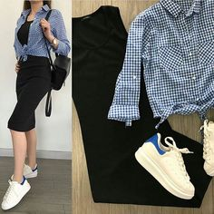 Women S Fashion Dresses Wholesale Key: 1362808484 Skirt Outfits, Chic Outfits, Trendy Outfits, Fall Outfits, Travel Outfits, Dress Skirt, Look Fashion, Skirt Fashion, Korean Fashion
