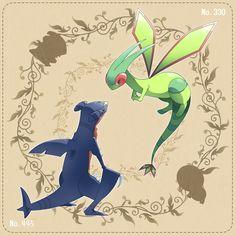garchomp y flygon