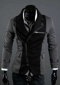 SLS Distributors Men's Boutique, LLC - Asymmetrical Zip Blazer, $56.89 (http://www.slsdistributors.com/outerwear/blazers/asymmetrical-zip-blazer/)